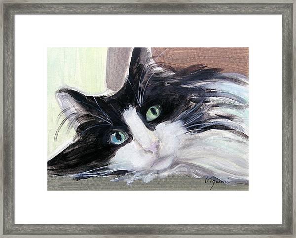 Blue Eye And Green Eye Framed Print