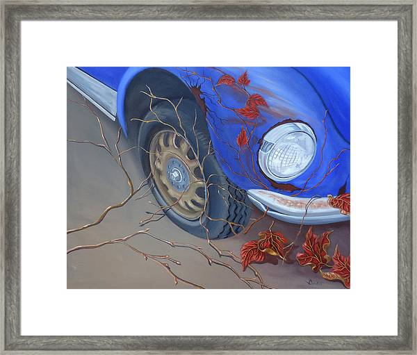 Blue Fender Framed Print
