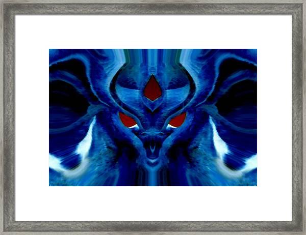Blue Fox Framed Print