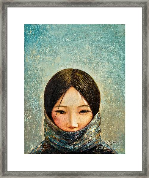 Blue Girl Framed Print