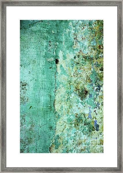 Blue Green Wall Framed Print