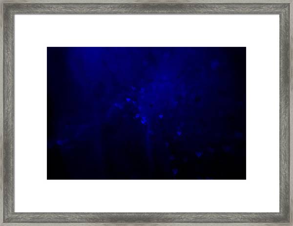 Blue Hearts Framed Print