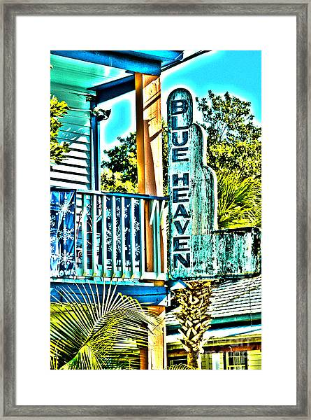 Blue Heaven In Key West - 1 Framed Print