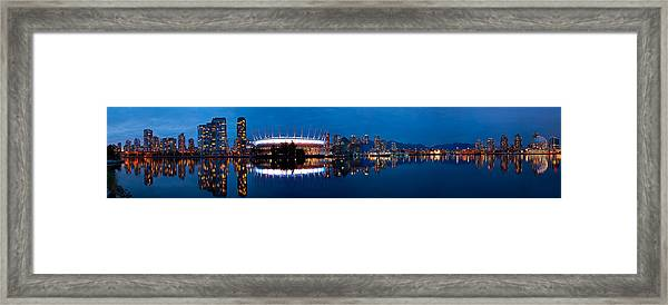 Blue Hour Creek Framed Print