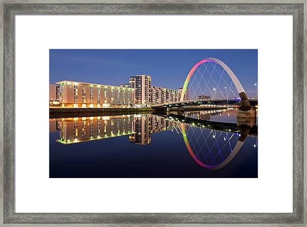 Blue Hour In Glasgow Framed Print
