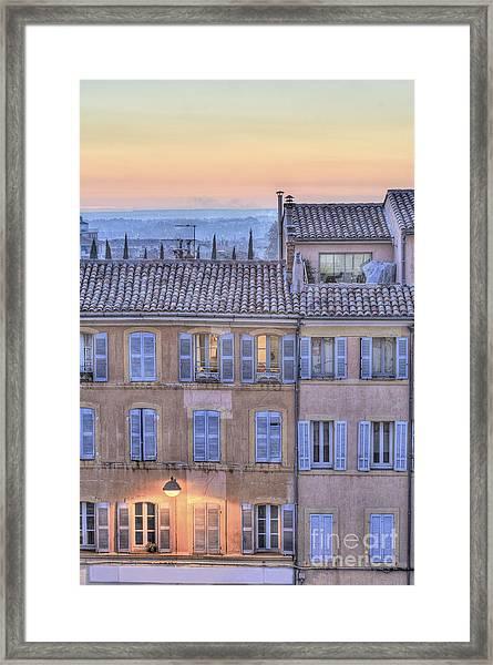 Blue Hour In Provence Framed Print