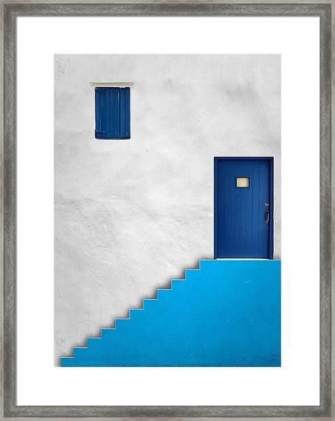 Blue House Framed Print by Alfonso Novillo