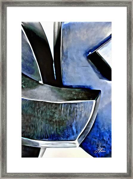 Blue Iron Framed Print