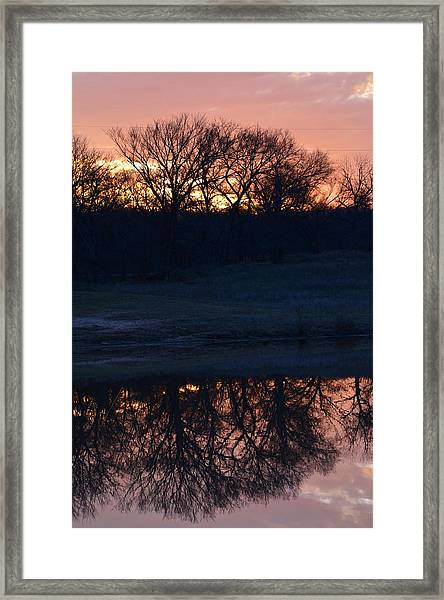 Blue Lake Sunset Xi Framed Print