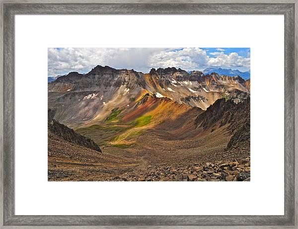 Blue Lakes Pass Framed Print