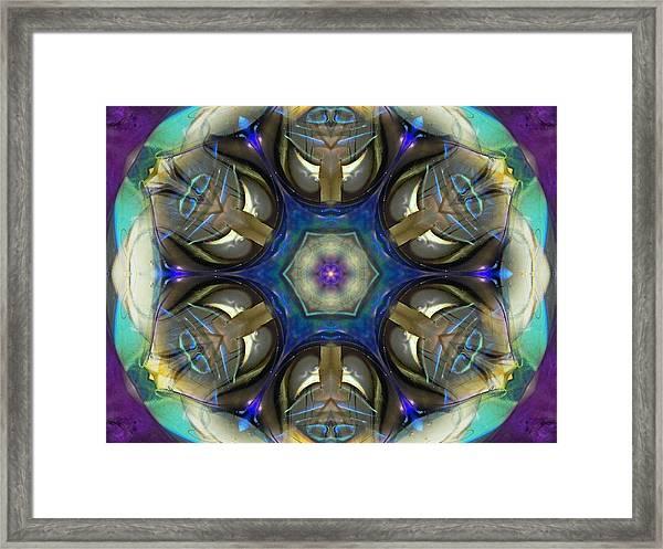 Blue Light Angel Mandala Framed Print