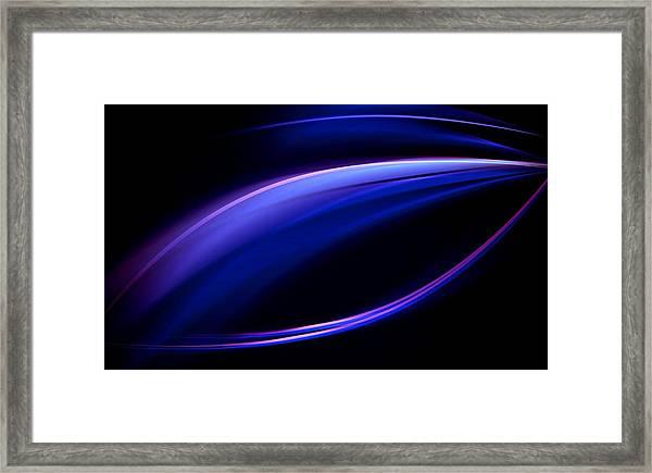 Blue Purple Light Framed Print