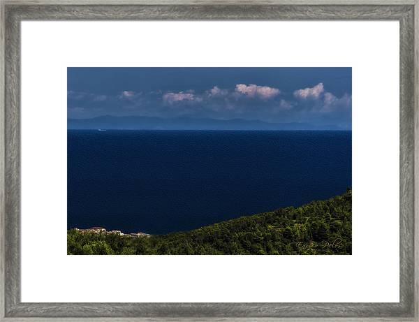 Blue Liguria Framed Print