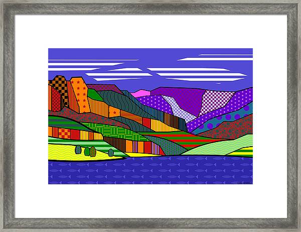 Blue Mesa Lake Framed Print