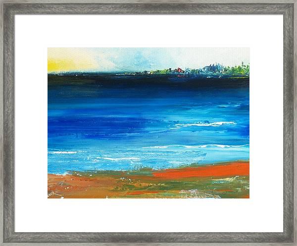 Blue Mist Over Nantucket Island Framed Print