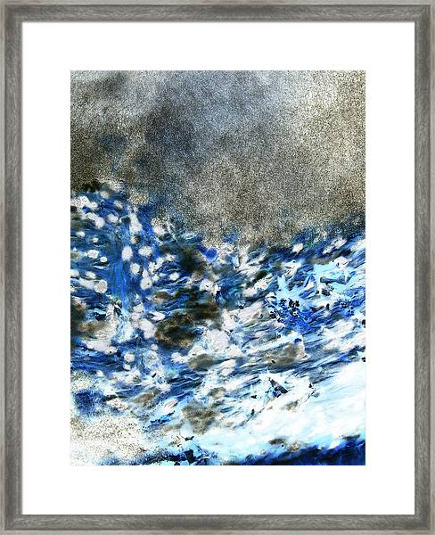 Blue Mold Framed Print