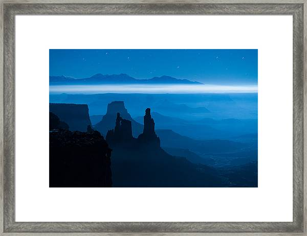 Framed Print featuring the photograph Blue Moon Mesa by Dustin  LeFevre