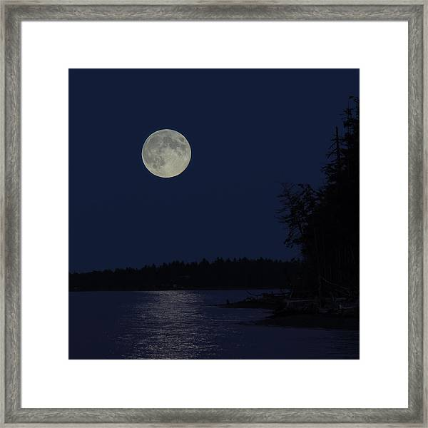 Framed Print featuring the photograph Blue Moon by Randy Hall