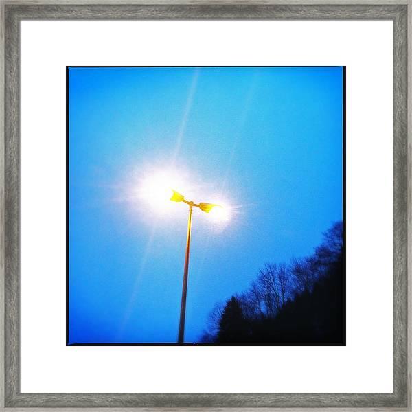 Blue Morning - Bright Beam Of Light Framed Print