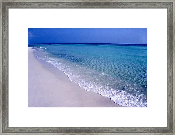 Blue Mountain Beach Framed Print