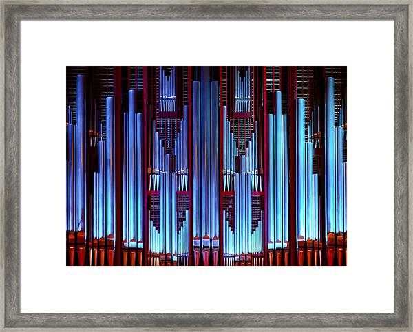 Blue Organ Pipes Framed Print