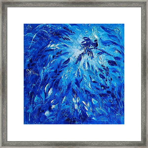 Blue Phoenix Framed Print