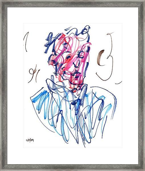 Blue Portrait Framed Print