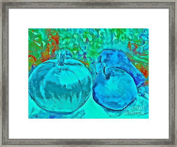 Blue Pumpkin Framed Print