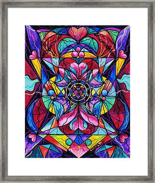 Blue Ray Healing Framed Print