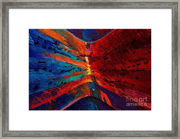Blue Red Intermezzo Framed Print