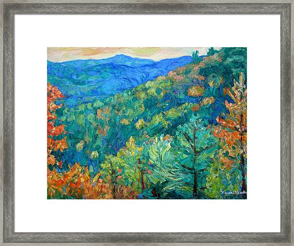 Blue Ridge Autumn Framed Print