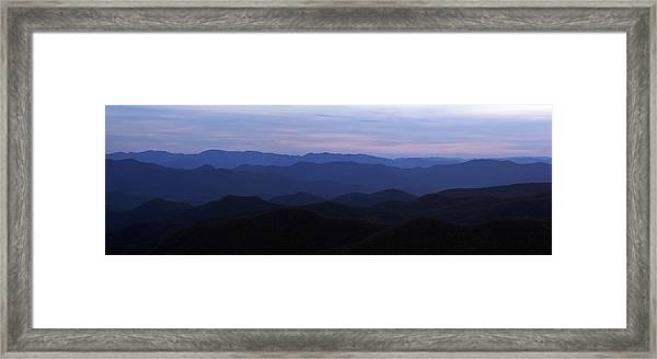 Blue Ridge Blues Framed Print