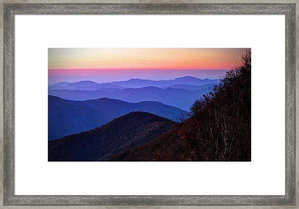 Blue Ridge Dawn Framed Print