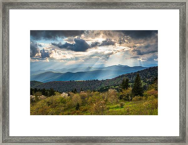Blue Ridge Parkway North Carolina Mountains Gods Country Framed Print