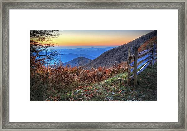 Blue Ridge Sunrise Framed Print