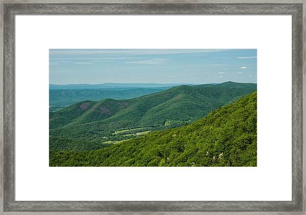 Blue Ridge Vista Framed Print