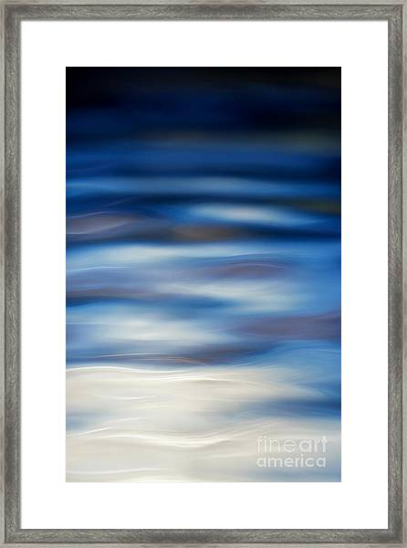 Blue Ripple Framed Print