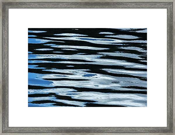 Blue Rippled Water Of British Columbias Framed Print