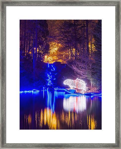 Blue River - Crop Framed Print