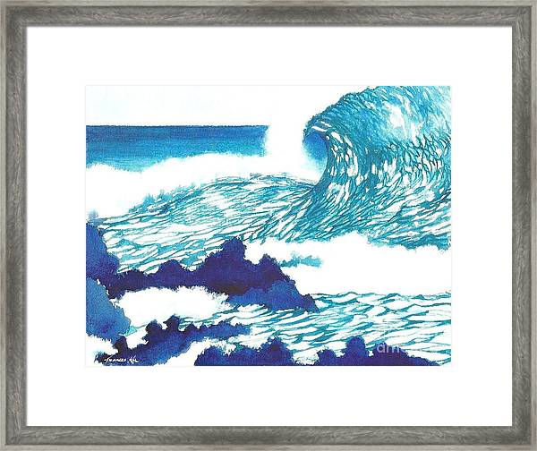 Blue Roar Framed Print