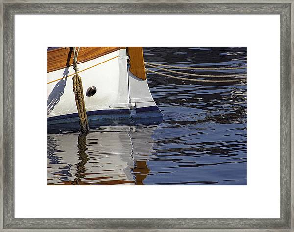Blue Rudder Framed Print
