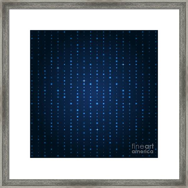Blue Shining Pattern. Vector Background Framed Print