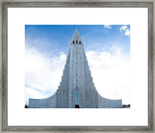 Blue Skies Over Hallgrimskirkja Framed Print
