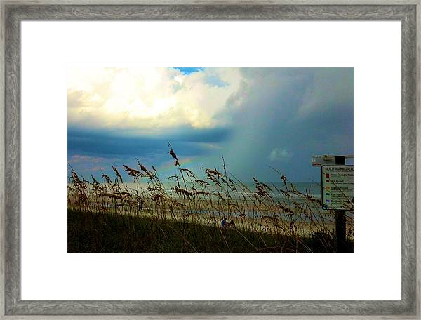 Blue Sky Above Framed Print