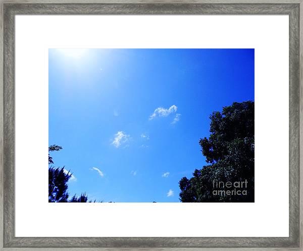 Blue Sky And Sunshine Framed Print