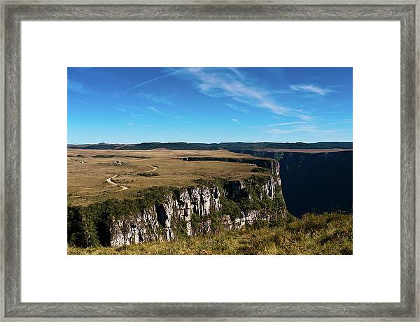 Blue Sky Over The Fortaleza Canyon Framed Print