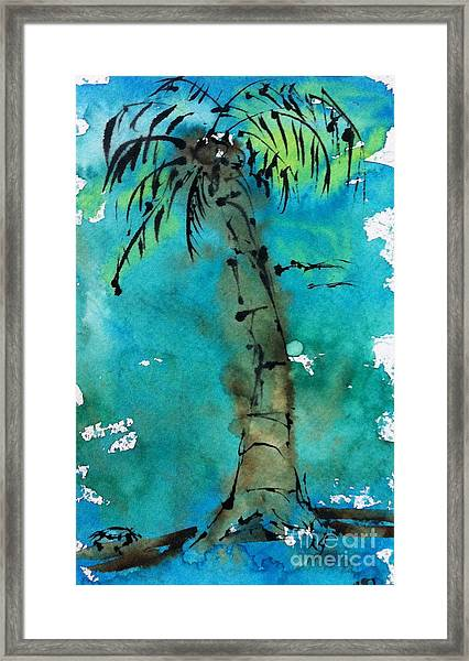Blue Sky Palm Framed Print