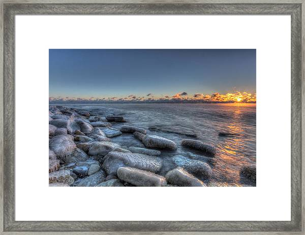 Blue Sunrise Framed Print