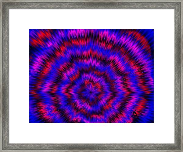 Blue Super Nova Framed Print