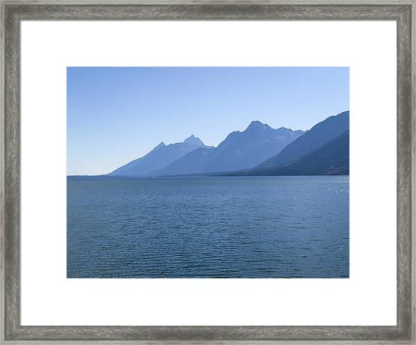 Blue Tetons Framed Print by Jill Bell